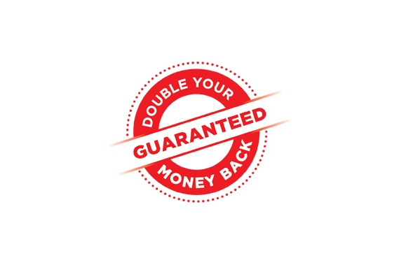 Double Your Money Back Guaranteed seal