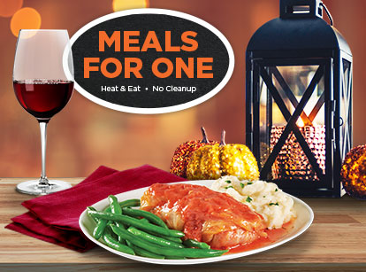 Meals for one just heat and serve